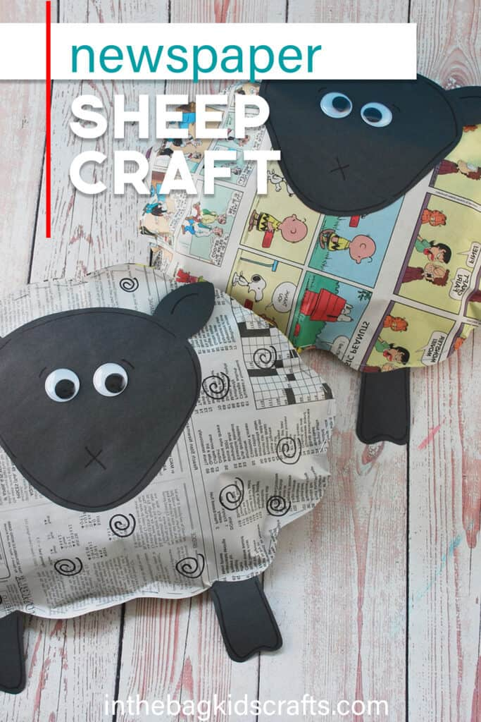 EASY SHEEP CRAFT WITH NEWSPAPER
