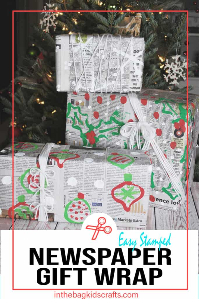 DIY Wrapping Paper from Newspaper