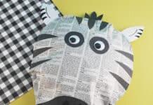 EASY ZEBRA CRAFT WITH NEWSPAPER