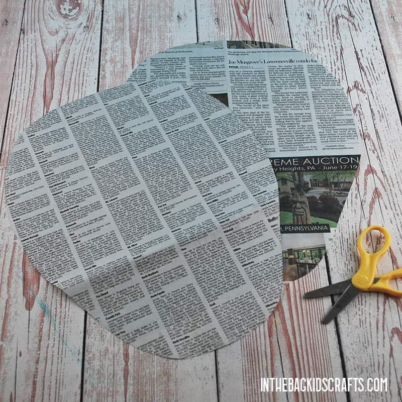EASY ZEBRA CRAFT WITH NEWSPAPER STEP 1
