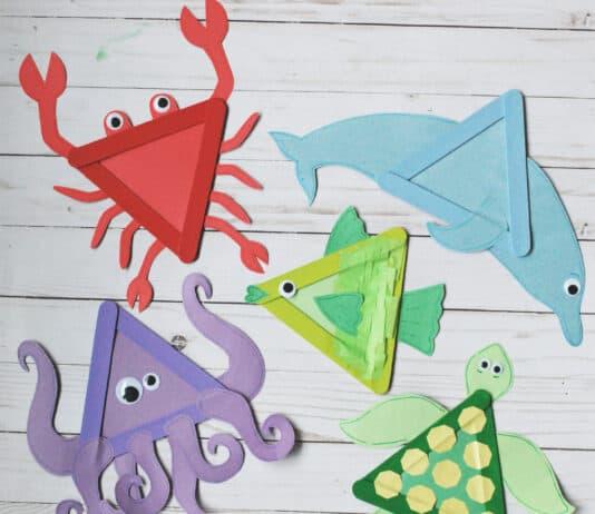 SEA ANIMAL CRAFTS FOR KIDS