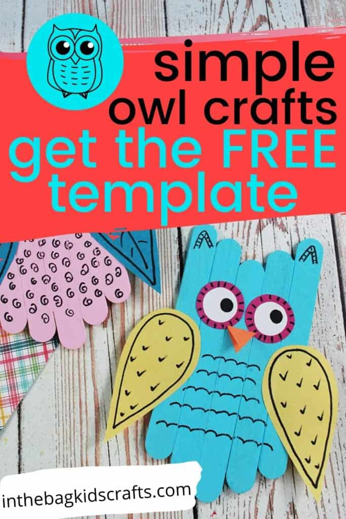 EASY OWL CRAFT FOR PRESCHOOLERS