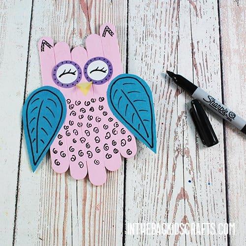 EASY OWL CRAFT FOR PRESCHOOLERS STEP 6