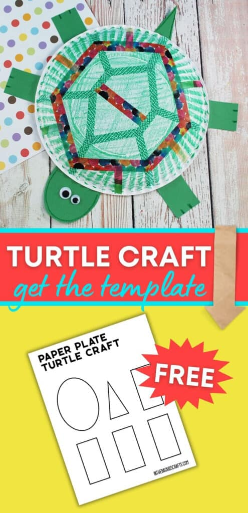 PAPER PLATE TURTLE CRAFT FOR PRESCHOOLERS