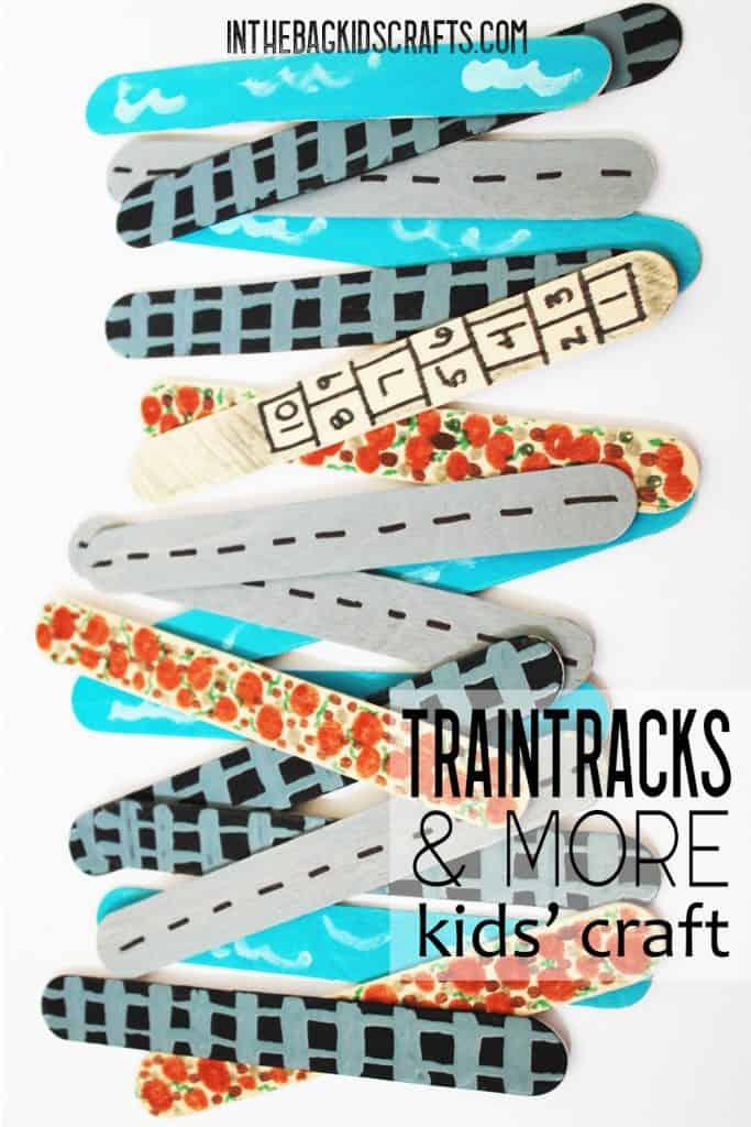 TRAIN TRACK CRAFT IDEA