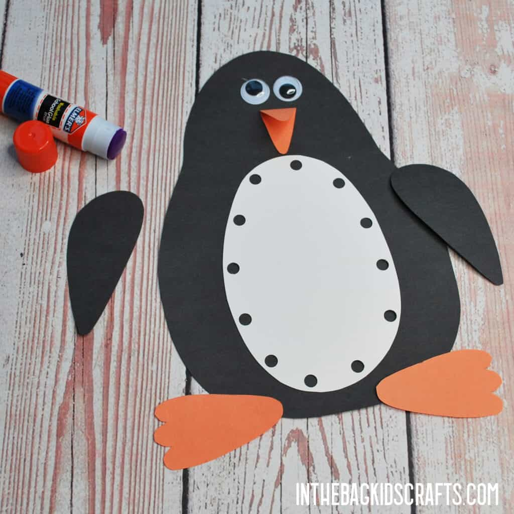 PENGUIN CRAFT FOR KIDS STEP 3