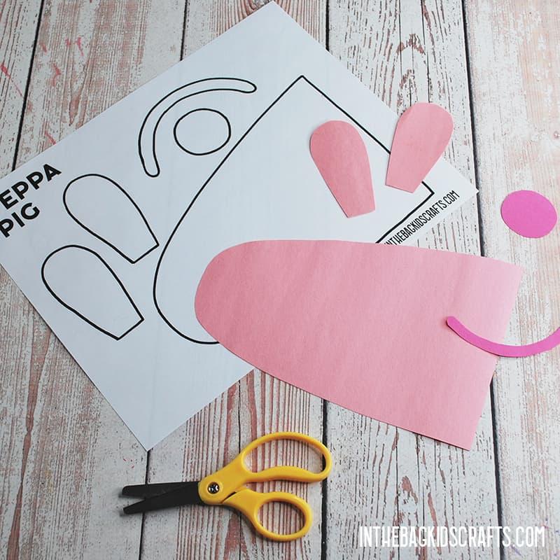 PEPPA PIG PAPER CRAFT STEP 2