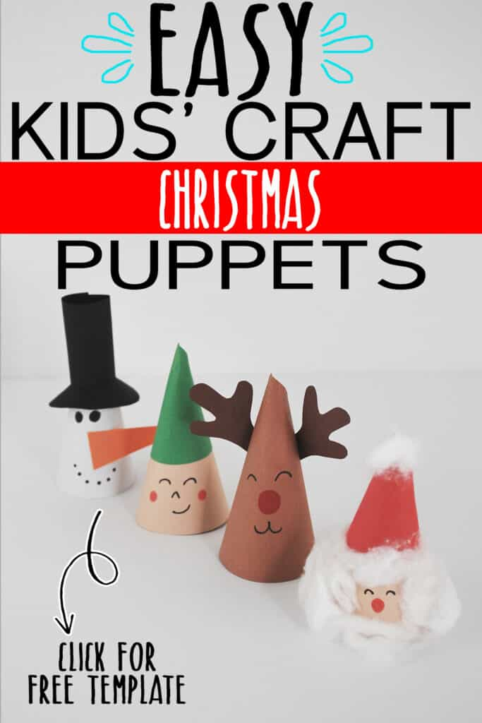 CHRISTMAS PUPPETS WITH FREE TEMPLATE