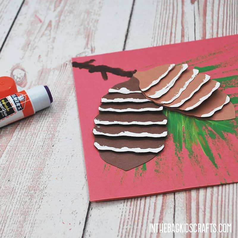 CHRISTMAS CARD FOR KIDS TO MAKE STEP 4