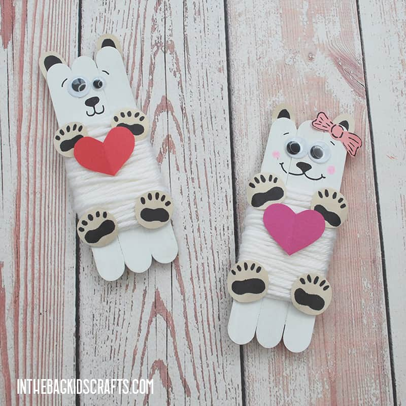 EASY VALENTINE CRAFTS FOR KIDS POLAR BEARS