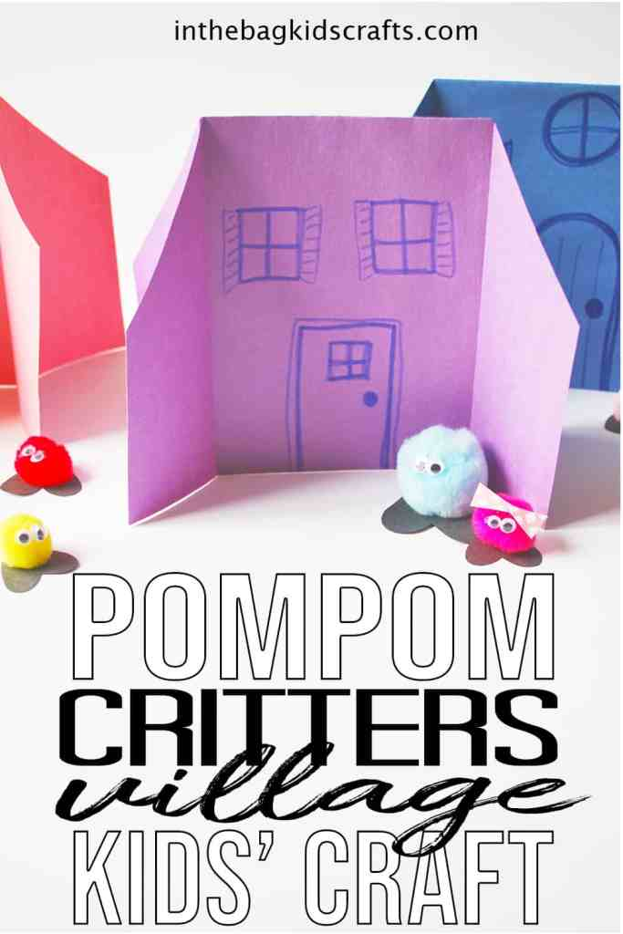 paper houses and pompom characters