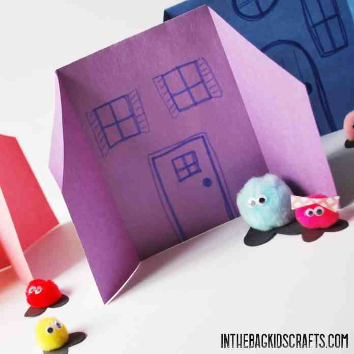 Paper Houses Kids Craft