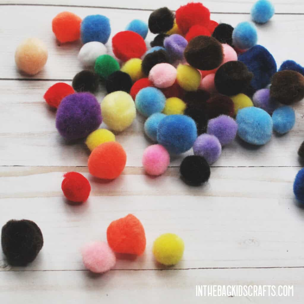 MATH MANIPULATIVES FROM THE HOME  POM POMS