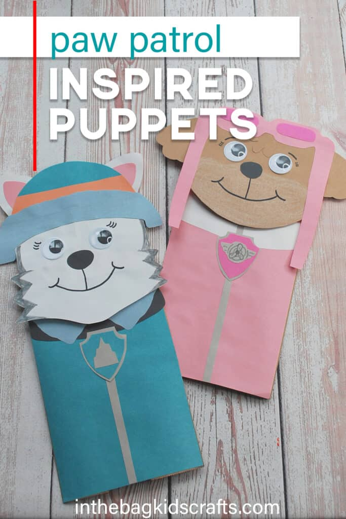 PAW PATROL PAPER CRAFTS PUPPETS
