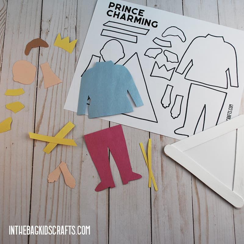 CINDERELLA ACTIVITIES PRINCE CHARMING CRAFT STEP 3