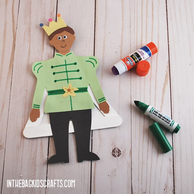 THE PRINCESS AND THE FROG CRAFTS PRINCE STEP 4