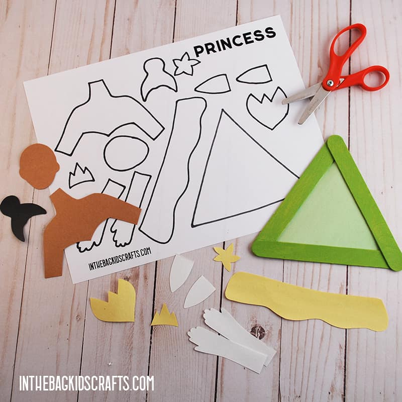 THE PRINCESS AND THE FROG PRINCESS TEMPLATE