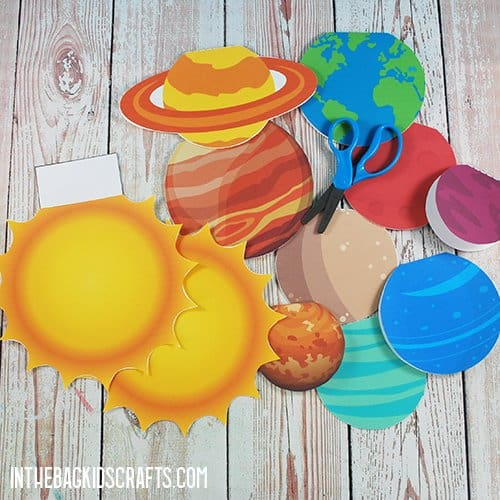 FREE PRINTABLE SOLAR SYSTEM CUT OUTS STEP 2