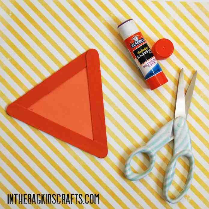 cut and glue the triangle