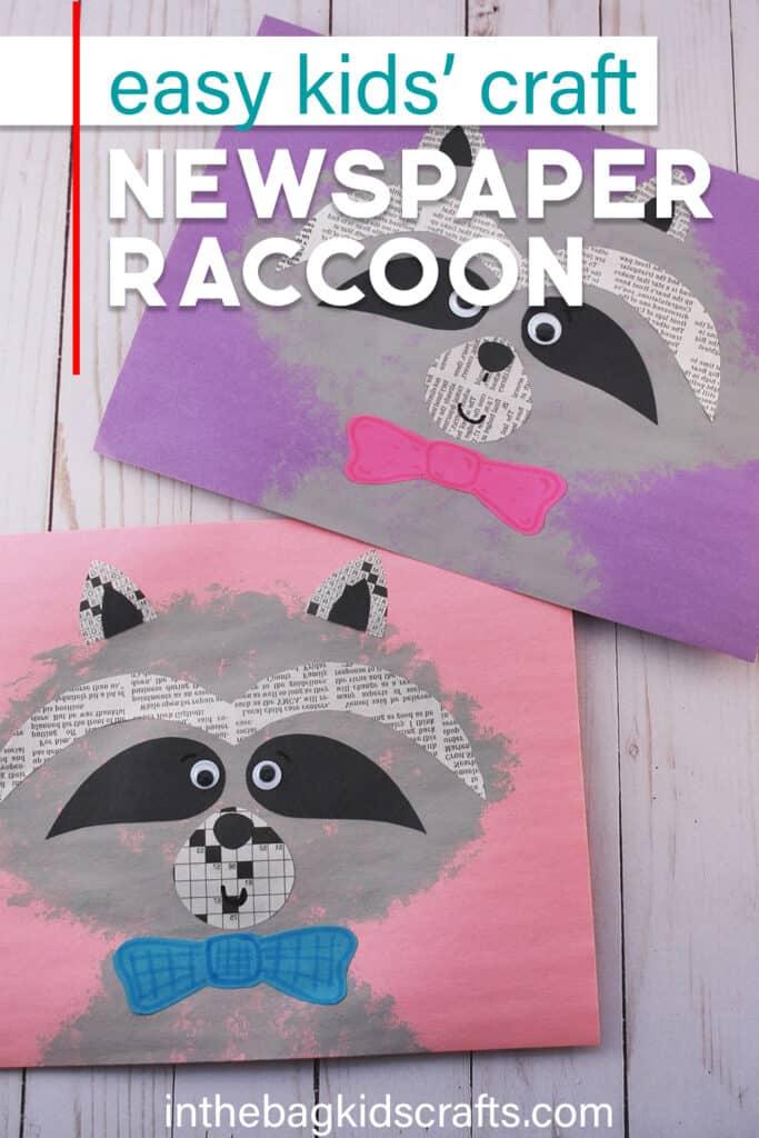 Raccoon Craft for Kids