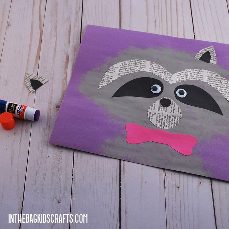 Raccoon Craft for Kids Step 3