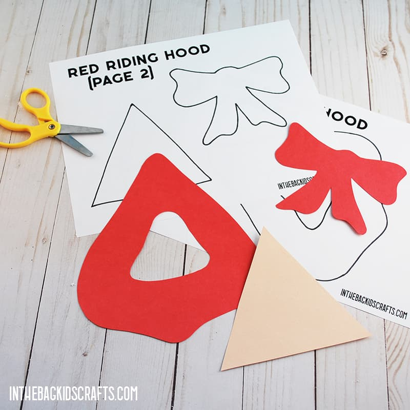LITTLE RED RIDING HOOD CRAFTS STEP 2