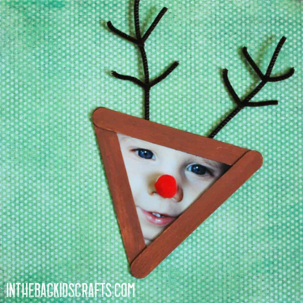 Rudolph Christmas Picture Frame  Crafts Ornament
