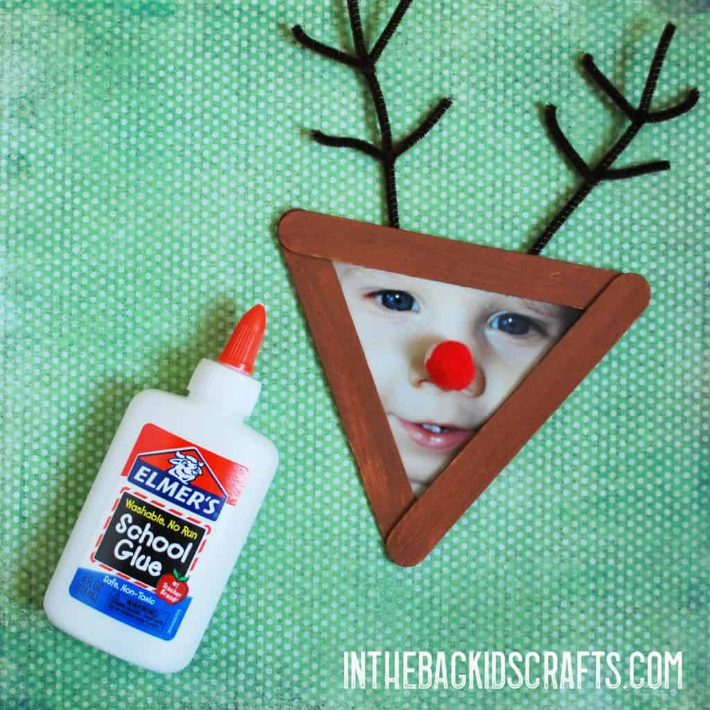 Christmas Picture Frame Crafts Rudolph