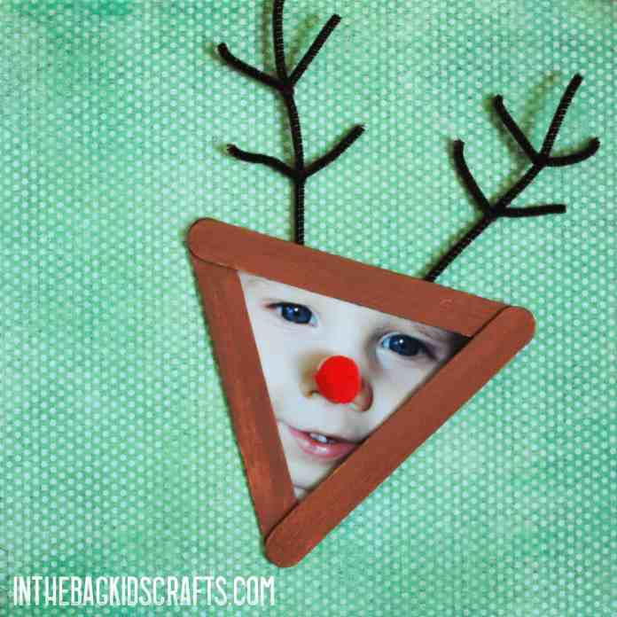 Rudolph Christmas Picture Frame Ornament