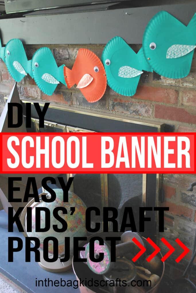 DIY SCHOOL BANNER CRAFT