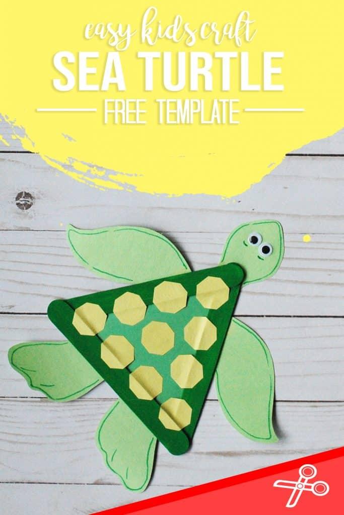 SEA TURTLE CRAFT FOR KIDS SEA ANIMAL CRAFT