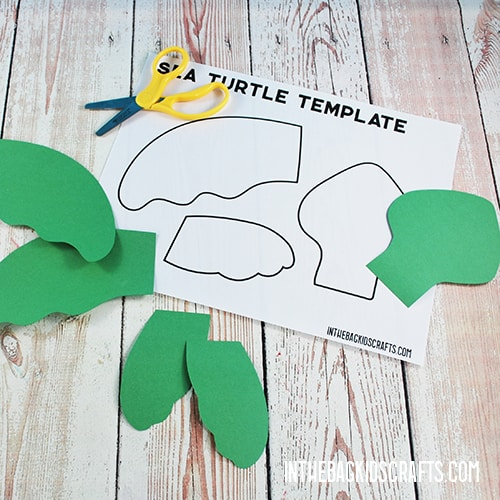 SEA TURTLE CRAFT TEMPLATE STEP 2