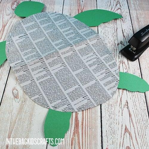 PAPER TURTLE CRAFT STEP 3
