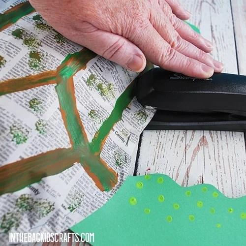 PAPER TURTLE CRAFT STEP 6