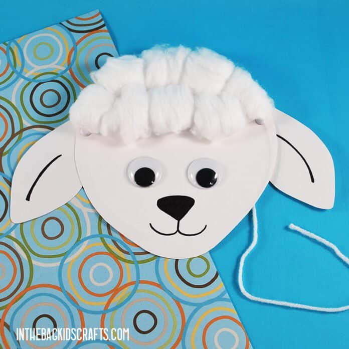 SHEEP CRAFT WITH COTTON BALLS