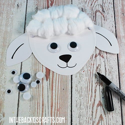 SHEEP CRAFT WITH COTTON BALLS STEP 4