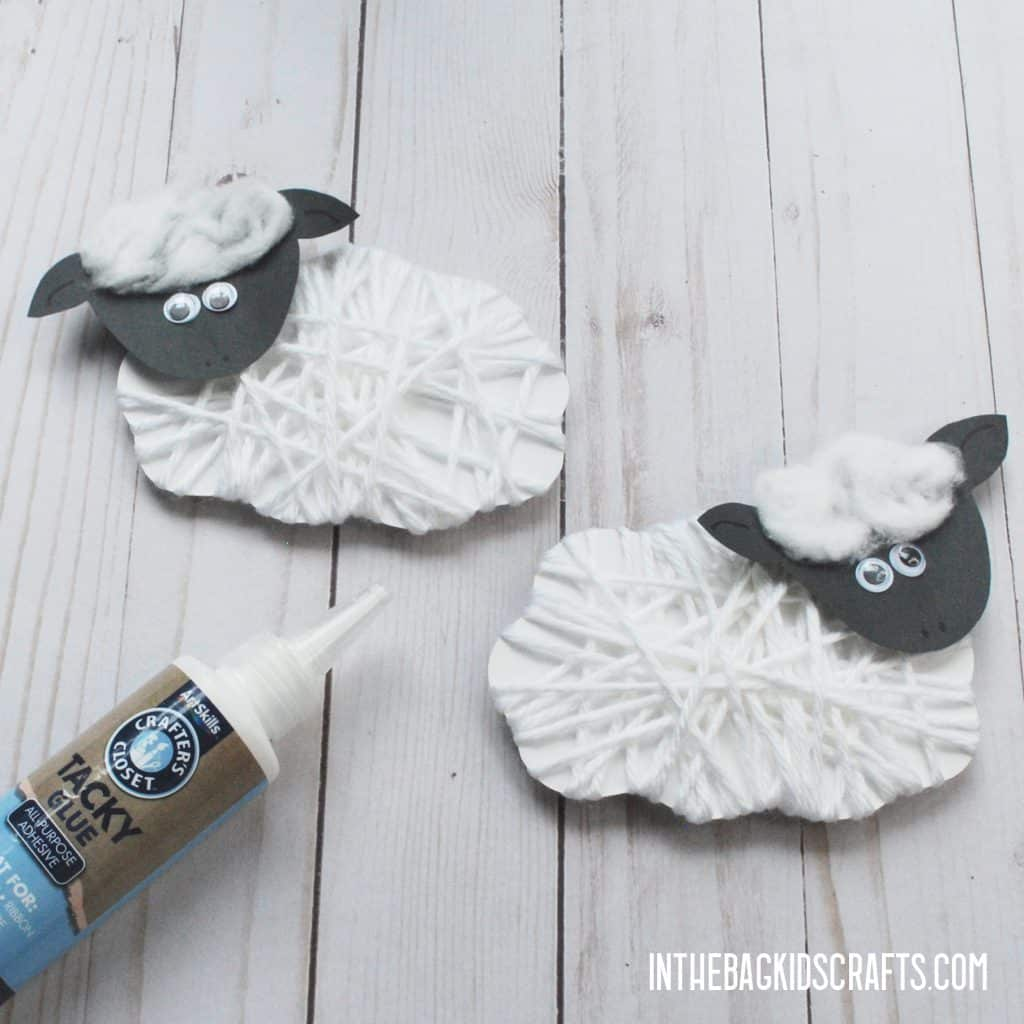 EASY SHEEP CRAFT FOR KIDS STEP 3B