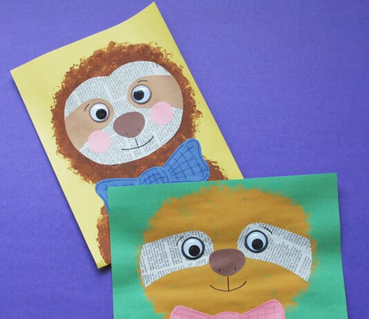 SLOTH CRAFT FOR KIDS