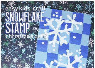 Handmade Christmas Greeting Cards with Stamped Snowflakes