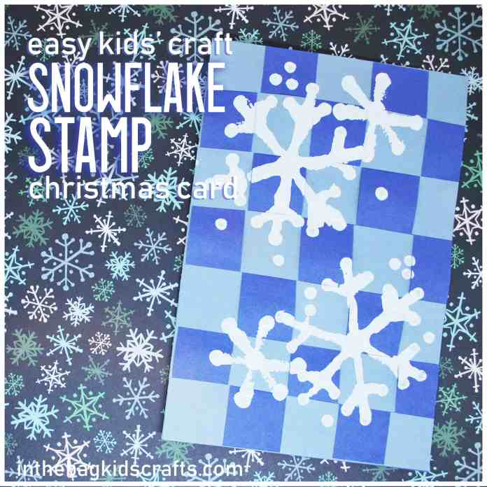 STAMPED SNOWFLAKE CHRISTMAS CARD