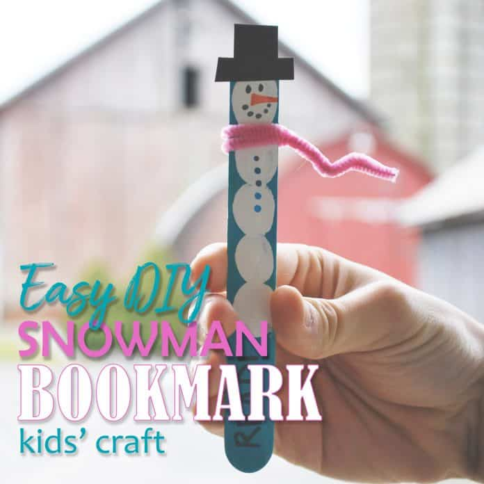 Snowman Bookmark