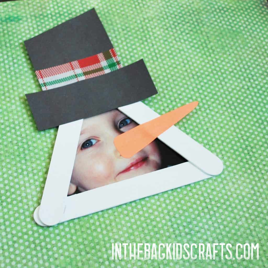 Snowman Picture Frame Crafts Ornament