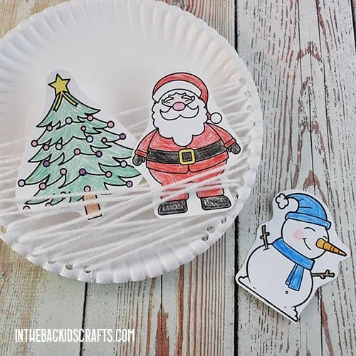 PAPER PLATE CHRISTMAS CRAFT STEP 4