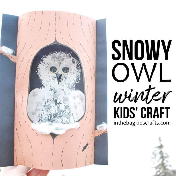Snowy Owl Craft for Kids