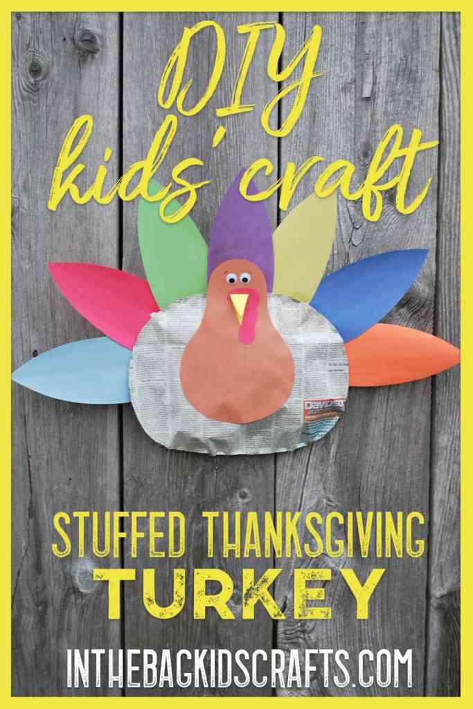 stuffed thanksgiving turkey kids' craft