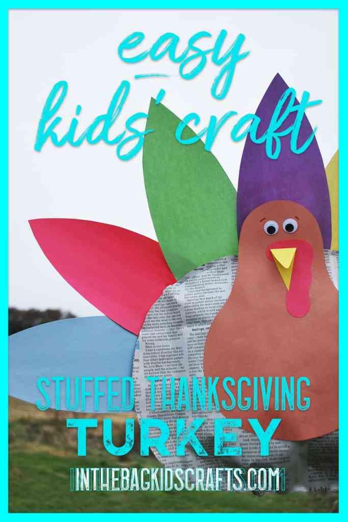 stuffed thanksgiving turkey kids craft