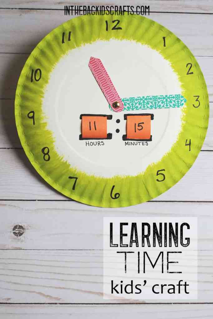 LEARN TO TELL TIME CRAFT