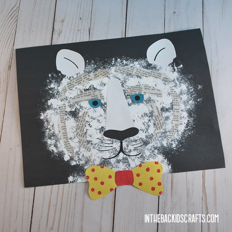 EASY TIGER CRAFT FOR KIDS WITH BOW TIE