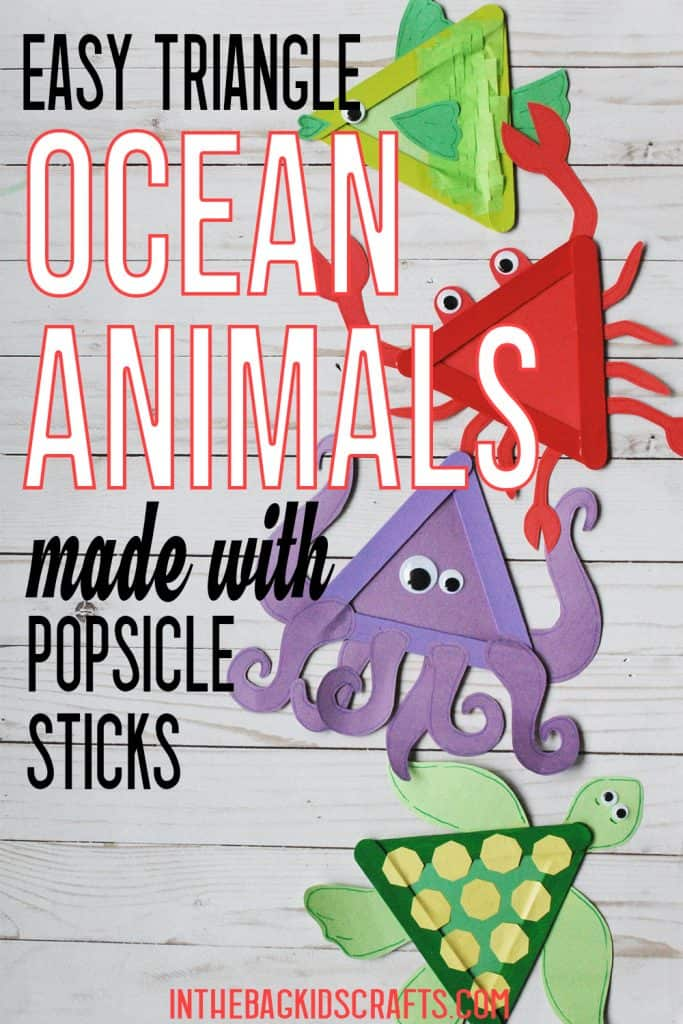 OCEAN ANIMALS CRAFTS FOR KIDS