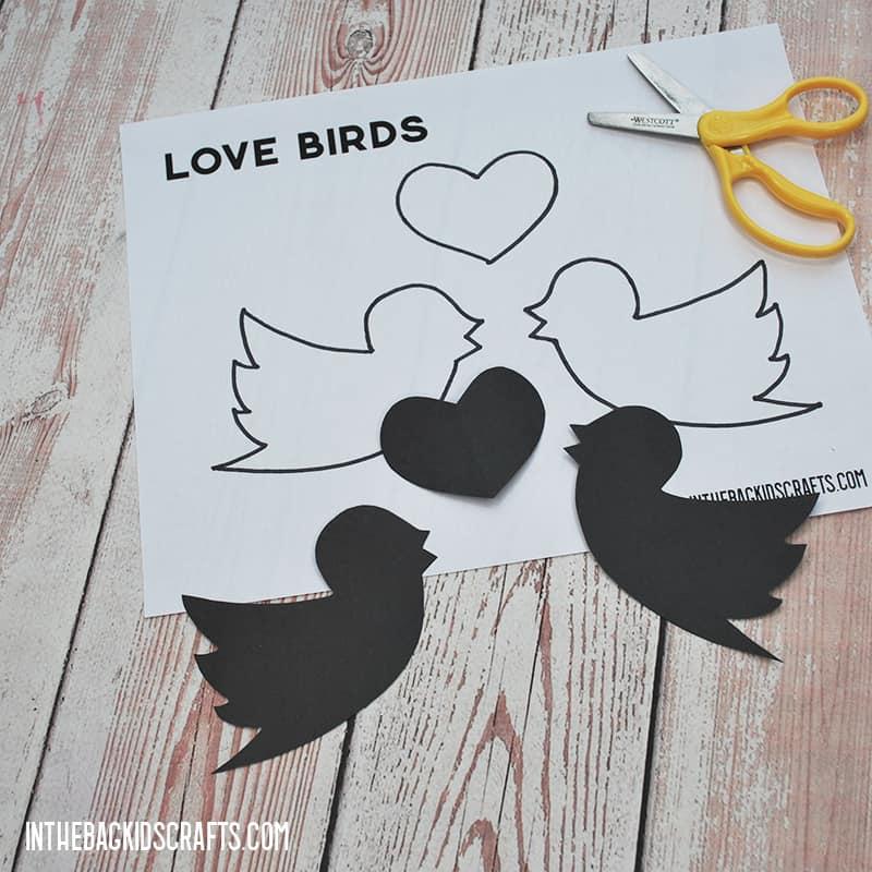 Valentine Preschool Crafts Silhouettes Step 2